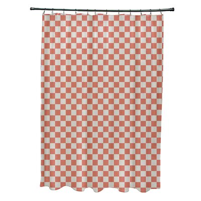 Delany Geometric Shower Curtain Color: Coral/Oatmeal