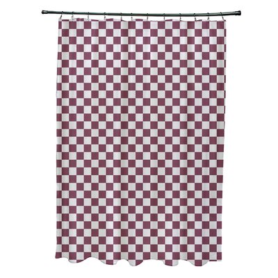 Delany Geometric Shower Curtain Color: Purple/Light Gray