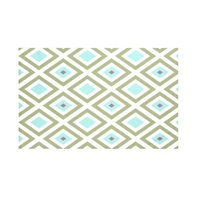 Elson Geometric Print Throw Blanket Size: 60 L x 50 W, Color: Aqua (Green/Aqua)
