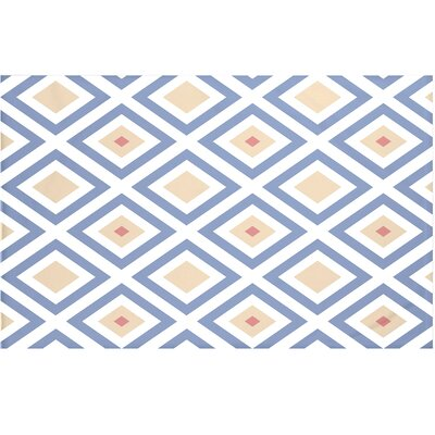 Elson Geometric Print Throw Blanket Size: 60 L x 50 W, Color: Cadet (Blue/Taupe)
