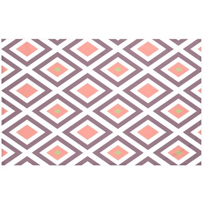 Elson Geometric Print Throw Blanket Size: 60 L x 50 W, Color: Seed (Purple)