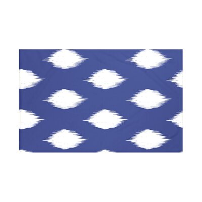 Houston Geometric Print Throw Blanket Size: 60 L x 50 W, Color: Blue Suede (Royal Blue/Off White)