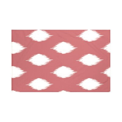 Houston Geometric Print Throw Blanket Size: 60 L x 50 W, Color: Burnt (Coral/Off White)