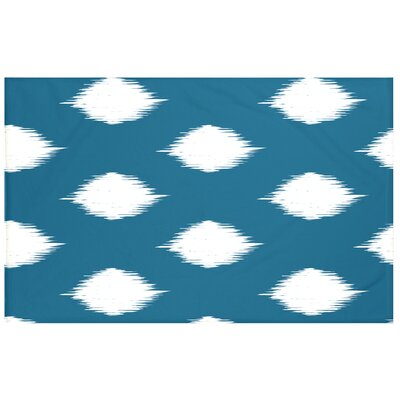 Houston Geometric Print Throw Blanket Size: 60 L x 50 W, Color: Teal (Teal/Off White)