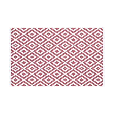 Elson Geometric Print Throw Blanket Color: Brick (Rust/Off White), Size: 60 L x 50 W