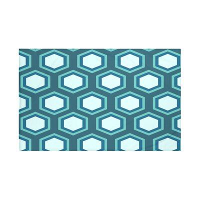 Blane Geometric Print Throw Blanket Size: 60