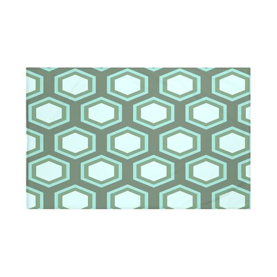 Blane Geometric Print Throw Blanket Size: 60 L x 50 W, Color: Seaglass (Green/Light Blue)