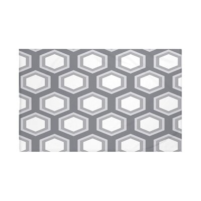 Blane Geometric Print Throw Blanket Size: 60 L x 50 W, Color: Steel Gray (Dark Gray/Light Gray)