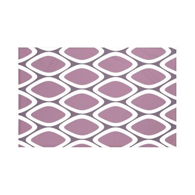 Fontes Geometric Print Throw Blanket Size: 60 L x 50 W, Color: Passion Flower (Purple)