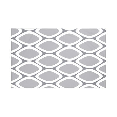 Fontes Geometric Print Throw Blanket Size: 60 L x 50 W, Color: Classic Gray (Dark Gray/Gray)