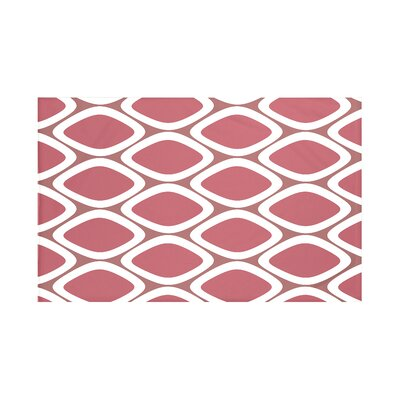 Fontes Geometric Print Throw Blanket Size: 60 L x 50 W, Color: Mahogany (Rust)