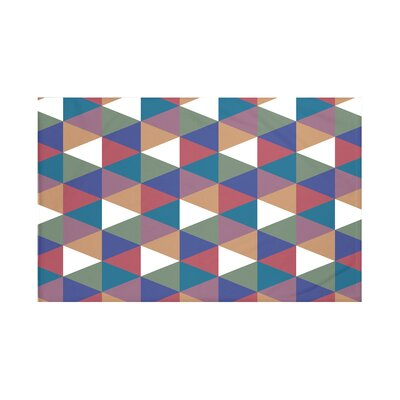 Helios Geometric Print Throw Blanket Size: 60
