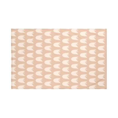 Winton Floral Print Throw Blanket Size: 60 L x 50 W, Color: Almond Butter (Taupe)