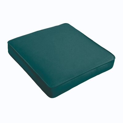 Kaplan Outdoor Chair Cushion Fabric: Teal, Size: 22.5 H x 22.5 W x 5 D