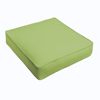 Kaplan Outdoor Chair Cushion Fabric: Apple Green, Size: 22.5 H x 22.5 W x 5 D