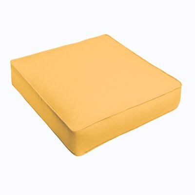 Kaplan Outdoor Chair Cushion Fabric: Butter Yellow, Size: 20 H x 20 W x 5 D