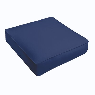 Kaplan Outdoor Chair Cushion Fabric: Dark Blue, Size: 20 H x 20 W x 5 D