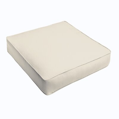 Kaplan Outdoor Chair Cushion Fabric: Ivory, Size: 22.5 H x 22.5 W x 5 D