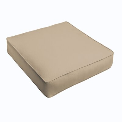 Kaplan Outdoor Chair Cushion Fabric: Beige, Size: 20 H x 20 W x 5 D