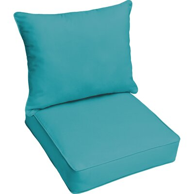 Outdoor Lounge Cushion Color: Aqua Blue