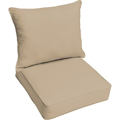 Kaplan Outdoor Lounge Cushion Color: Beige