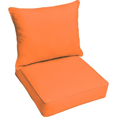 Kaplan Outdoor Lounge Cushion Color: Bright Orange