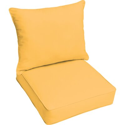Outdoor Lounge Cushion Color: Butter Yellow