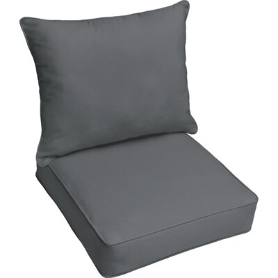 Kaplan Outdoor Lounge Cushion Color: Charcoal Gray