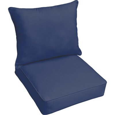 Outdoor Lounge Cushion Color: Dark Blue