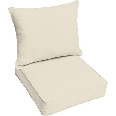 Outdoor Lounge Cushion Color: Ivory