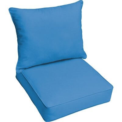 Outdoor Lounge Cushion Color: Light Blue