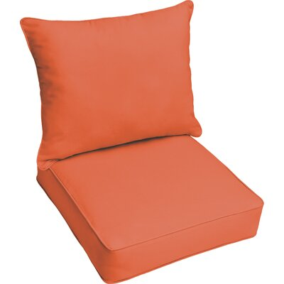 Outdoor Lounge Cushion Color: Mandarin Orange