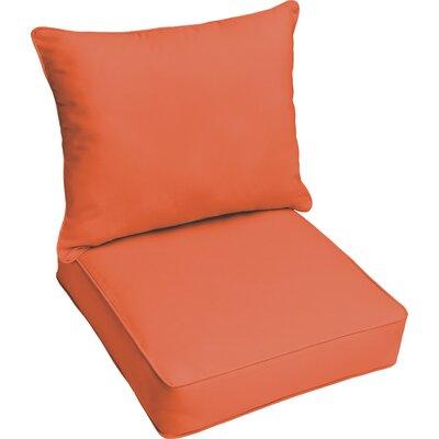 Kaplan Outdoor Lounge Cushion Color: Mandarin Orange