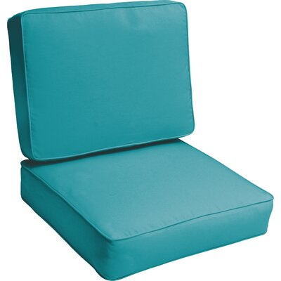 Indoor/Outdoor Lounge Chair Cushion Color: Aqua Blue