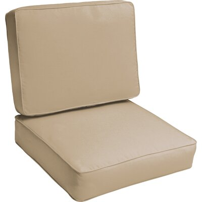 Indoor/Outdoor Lounge Chair Cushion Color: Beige