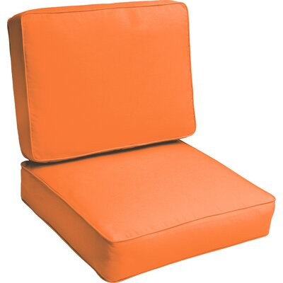 Indoor/Outdoor Lounge Chair Cushion Color: Bright Orange
