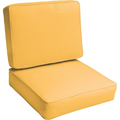 Indoor/Outdoor Lounge Chair Cushion Color: Butter Yellow