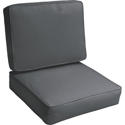 Indoor/Outdoor Lounge Chair Cushion Color: Charcoal Grey