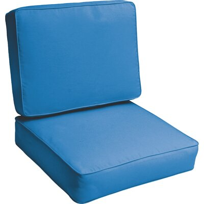 Kaplan Indoor/Outdoor Lounge Chair Cushion Color: Light Blue
