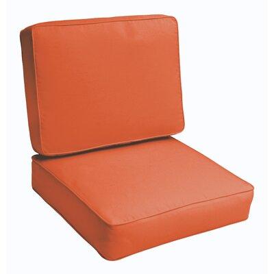 Indoor/Outdoor Lounge Chair Cushion Color: Mandarin Orange