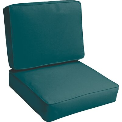 Kaplan Indoor/Outdoor Lounge Chair Cushion Color: Teal