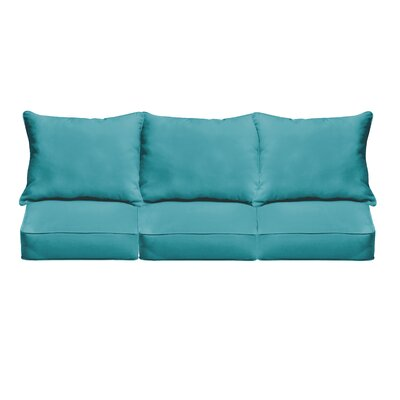 Outdoor Sofa Cushions Fabric: Aqua Blue