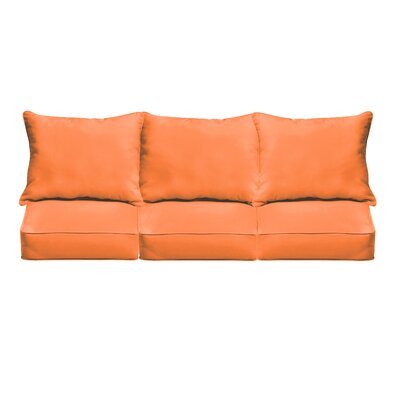 Outdoor Sofa Cushions Fabric: Bright Orange