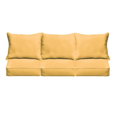 Outdoor Sofa Cushions Fabric: Butter Yellow