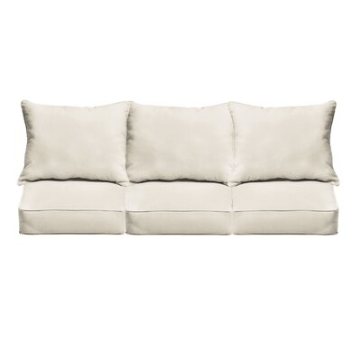 Outdoor Sofa Cushions Fabric: Ivory