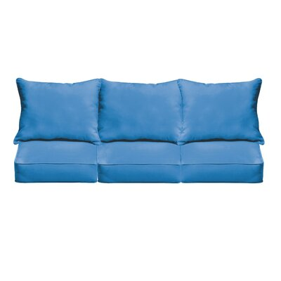 Outdoor Sofa Cushions Fabric: Light Blue