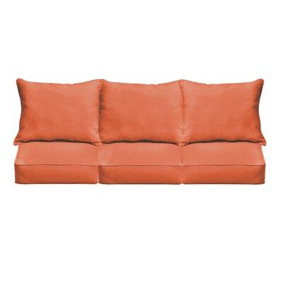 Outdoor Sofa Cushions Fabric: Mandarin Orange