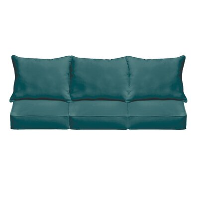 Kaplan Outdoor Sofa Cushions Fabric: Teal