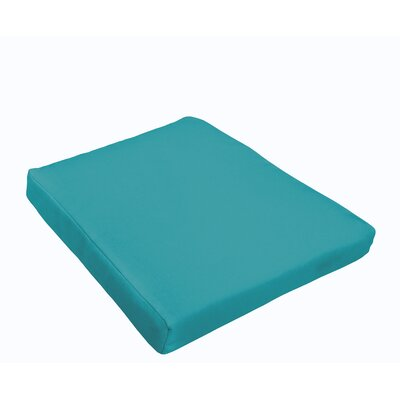 Outdoor Dining Chair Cushion Fabric: Aqua Blue