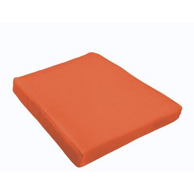 Outdoor Dining Chair Cushion Fabric: Mandarin Orange